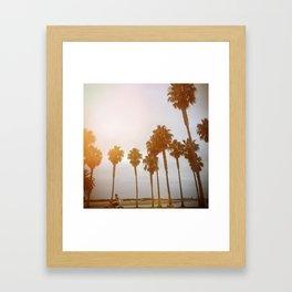 Palm Tree Road Framed Art Print