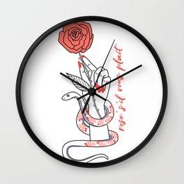 Rosé S'il Vous Plaît Wall Clock