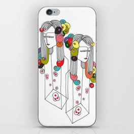 Sisters in a bottle iPhone Skin