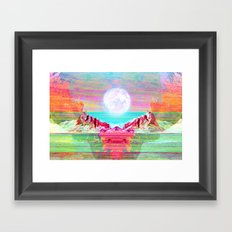 Moon's Cradle Framed Art Print