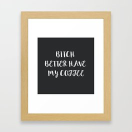 Coffee Framed Art Print