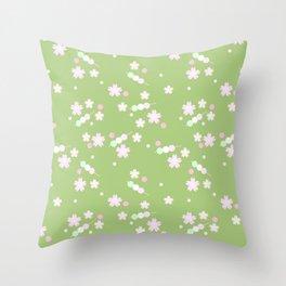 sakura sweets pattern Throw Pillow