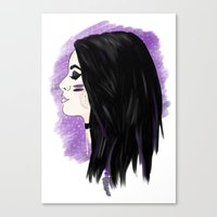 wwe Canvas Prints featuring WWE Paige - Gypsy Soul by Little Tigy
