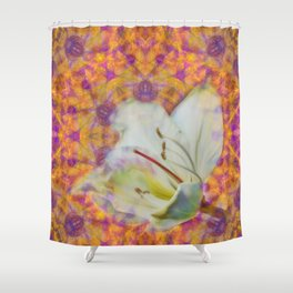 Bauhinia on vibrant kaleidoscope Shower Curtain