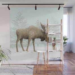 Winter Moose Wall Mural