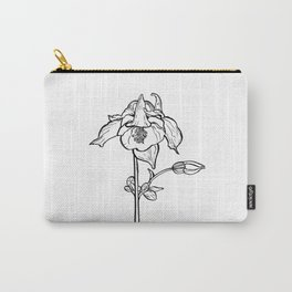 Garden Flower Ink Drawing  Carry-All Pouch