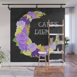 Crescent Bloom | Lavender and lemons  Wall Mural