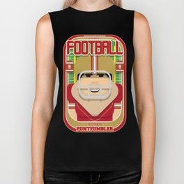 American Football Red and Gold - Enzone Puntfumbler - Victor version Biker Tank