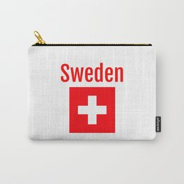 Sweden - Swiss Flag Carry-All Pouch