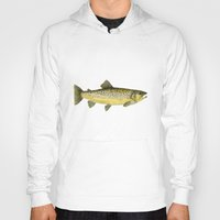trout Hoodies featuring Brown Trout by Trinity Mitchell