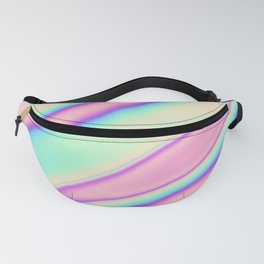 Holographic Foil Neon Pastel Colorful Pattern Abstract Marble Multi Colored Gradient Fanny Pack