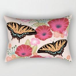 Swallowtail Florals by Andrea Lauren  Rectangular Pillow