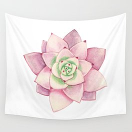 Pink succulent Wall Tapestry