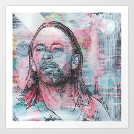 Thom Yorke - Give Up The Ghost Art Print
