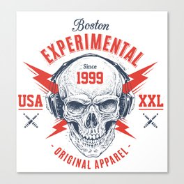bad skull Canvas Print