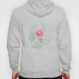 Carnations on a white background. Hoody