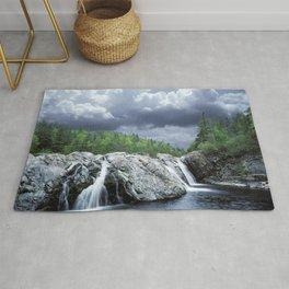 Falls at the Aguasabon River Mouth in Ontario Canada Rug