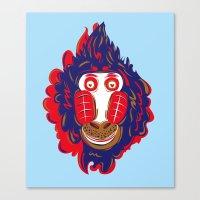 gorilla Canvas Prints featuring Gorilla by echo3005
