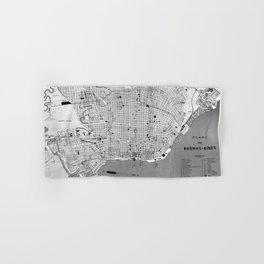 Vintage Map of Buenos Aires Argentina (1888) Hand & Bath Towel