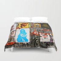 ace Duvet Covers featuring Ace by Global Graphiti