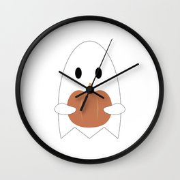 Ghost with Pumpkin Wall Clock