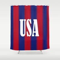 usa Shower Curtains featuring USA by Caio Trindade