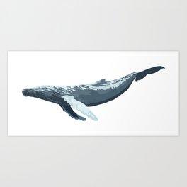 Galactic Whale Art Print