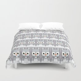 Silver Grey Bunny Rabbit - Super Cute Animals Duvet Cover