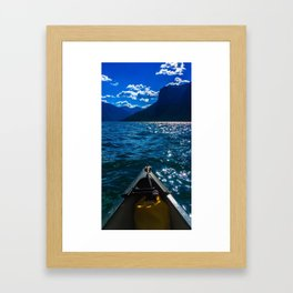 Canoeing Framed Art Print