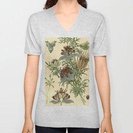 Spanish Fennel Flower Unisex V-Neck