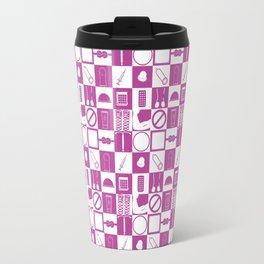 Contraception Pattern (Purple) Travel Mug