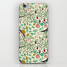 Fairy seamless pattern garden with plants, tree and flowers iPhone Skin