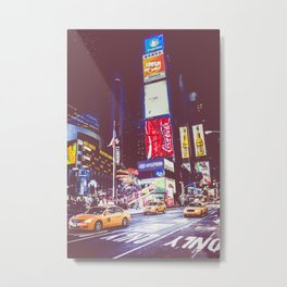 Time Square taxis Metal Print