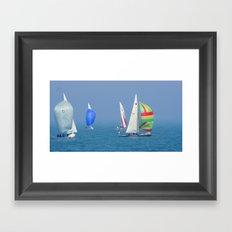 Sailing Chicago Framed Art Print
