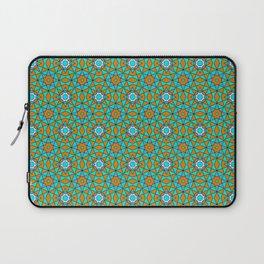 Moroccan Tile 1A - Blue Laptop Sleeve