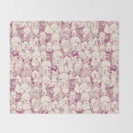 just alpacas cherry pearl Throw Blanket