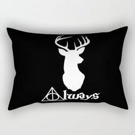 HP Always with Stag (White) Rectangular Pillow