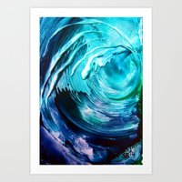 surfing Art Prints featuring Surfing by ART de Luna