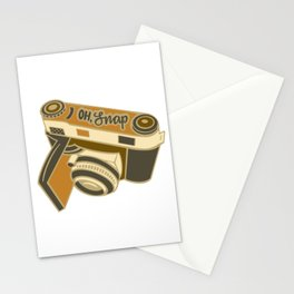 """Oh, Snap"" Camera Illustration Stationery Cards"