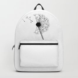 Dandelion Black and White Backpack