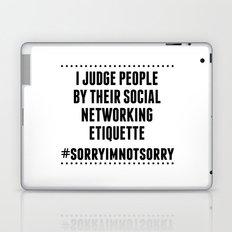 Social Networking Etiquette Laptop & iPad Skin
