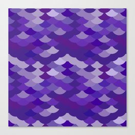 Ultra Violet wave, abstract simple background with japanese seigaiha circle pattern Canvas Print