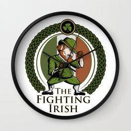 Fighting Irish Wall Clock