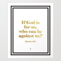 Romans 8:31 v.2 Art Print