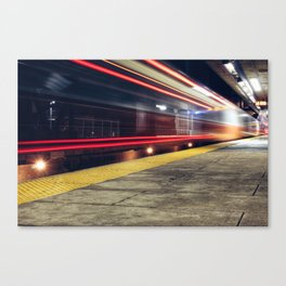 Traveling on Light Streams Canvas Print