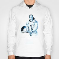 neil gaiman Hoodies featuring Neil Armstrong Tribute by Largetosti