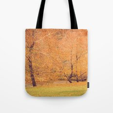 Autumn Landscape -- Trees By The River Tote Bag