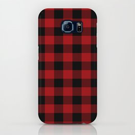 Red & Black Buffalo Plaid iPhone Case