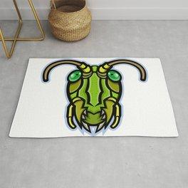 Grasshopper Head Mascot Rug