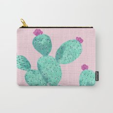 Cactus with pink flowers Carry-All Pouch